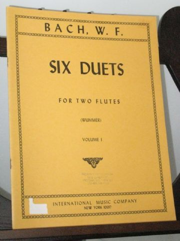 Bach W F - Six Duets for Two Flutes Vol 1 Nos 1-3